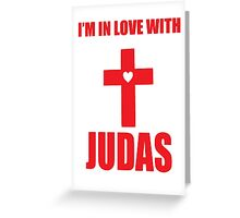 Lady Gaga Judas Greeting Card