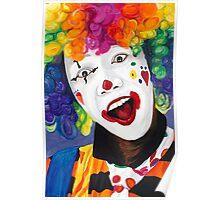 Rainbow Clown Poster