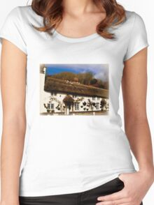 Cottage in Branscombe Women's Fitted Scoop T-Shirt