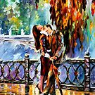 Kiss After The Rain — Buy Now Link - www.etsy.com/listing/179201574 by Leonid  Afremov
