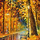 Lonely Bench — Buy Now Link - www.etsy.com/listing/196882754 by Leonid  Afremov