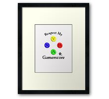 Player Six Gaming - game respects games Framed Print