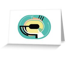Abstract '80s 02 Greeting Card