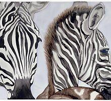 Zebras Mother and Child by psovart