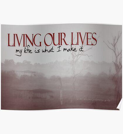 LIVING OUR LIVES © Vicki Ferrari Photography Poster