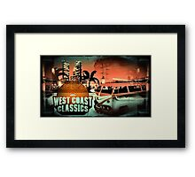 Grand Theft Auto West Coast Classics Design Framed Print