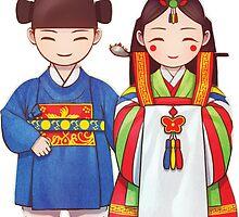 Korean Wedding Dolls by Nancy Teeple