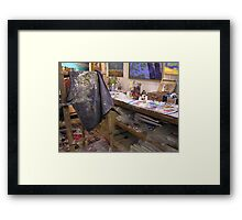 My playroom [arty work studio]partly[ the tidy part][joke] Framed Print