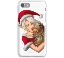 Christmas Blood Elf with Moonkin Hatchling iPhone Case/Skin