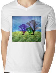halftone tree Mens V-Neck T-Shirt