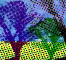 halftone tree Sticker