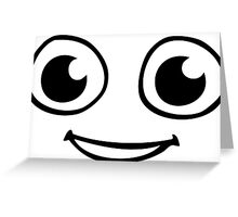 smiley smile comics SMILIE MOUTH EYE HAPPY Greeting Card