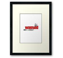 GTA 'wasted' drunk design. Framed Print