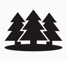Black fir trees by Designzz