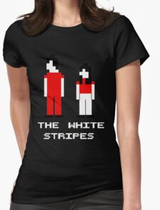 The White Stripes Pixel. Womens Fitted T-Shirt