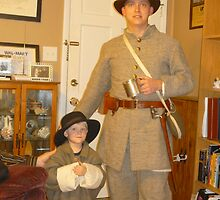 Civil War Re-Enactors In The Family by Bea Godbee