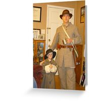 Civil War Re-Enactors In The Family Greeting Card