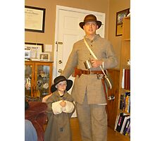 Civil War Re-Enactors In The Family Photographic Print