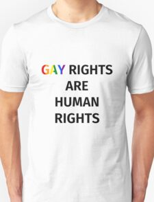 Gay Rights (Black Font) T-Shirt