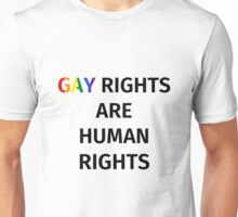 Gay Rights (Black Font) Unisex T-Shirt