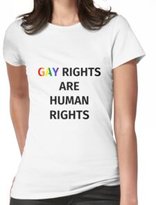 Gay Rights (Black Font) Womens Fitted T-Shirt