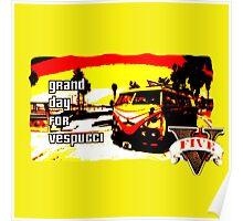 GTA V Vespucci Beach Design Poster