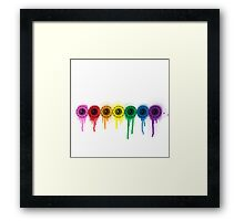 its your eyes on color! Framed Print