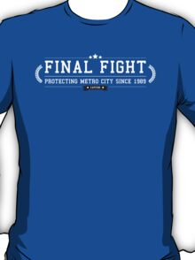 Final Fight - Retro White Clean T-Shirt