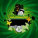 Green Music Background by Olga Altunina