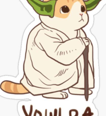 Waffles Yoda Sticker