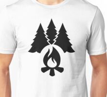 Campfire trees Unisex T-Shirt