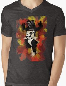 Folie á Watercolor (black) Mens V-Neck T-Shirt