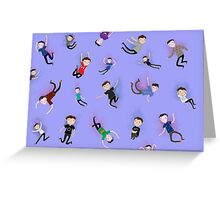 Falling Phan. Greeting Card