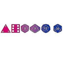 Bisexuality Pride (Polyhedral Edition) Photographic Print