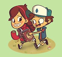 Gravity Falls - Dipper & Mabel by exeivier