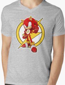 Sonic the Flash-Hog Mens V-Neck T-Shirt
