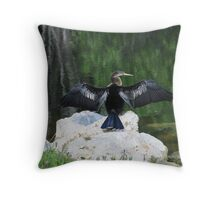 Sunning Throw Pillow