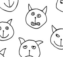 Twenty Cats Sticker