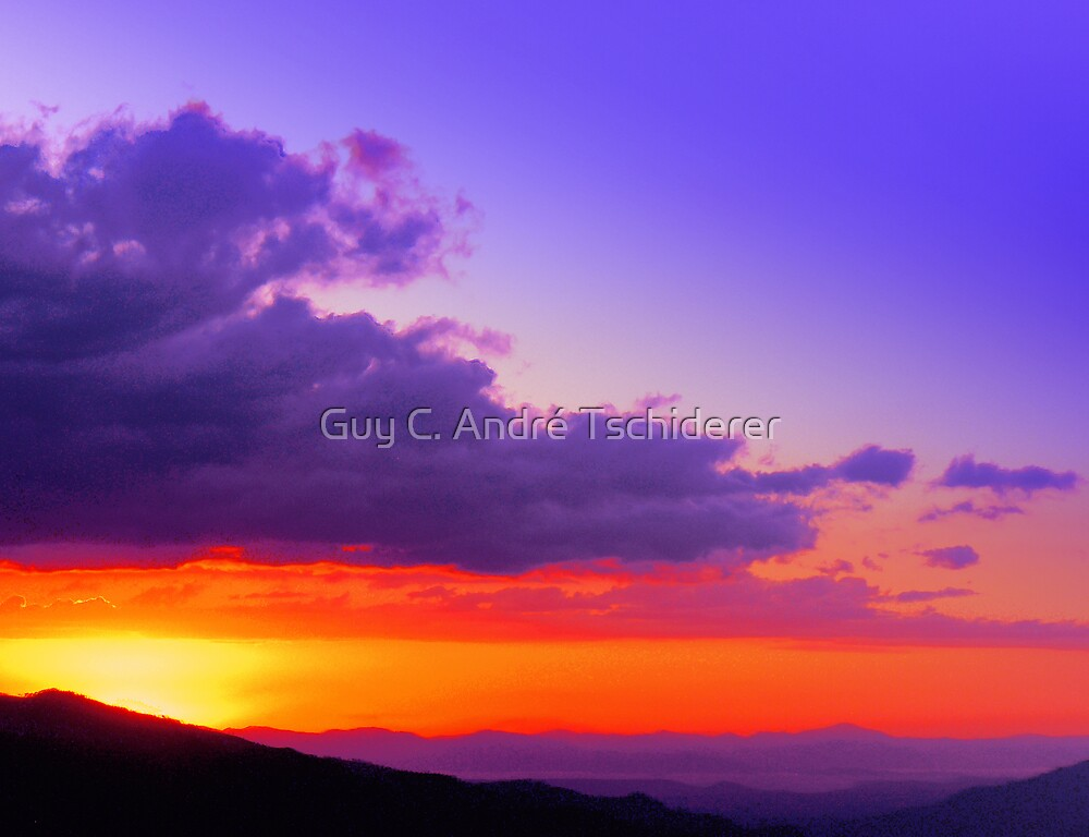 Rodeo Sunset Canton de Mora Costa Rica by Guy C. André Tschiderer