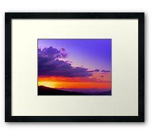 Rodeo Sunset Canton de Mora Costa Rica Framed Print