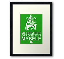 Picollo - My Greatest Opponent Is Myself - White Framed Print
