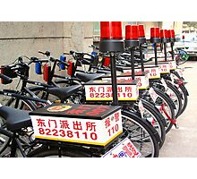 Police Bicycles  Photographic Print