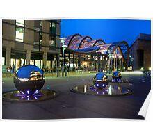 Millenium Square in Sheffield Poster