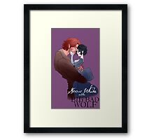 Snow White and the Big Bad Wolf Framed Print
