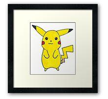 Pikachu Drawing Framed Print