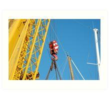 cranes & masts Art Print