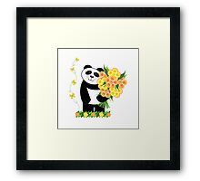 With Love Panda Framed Print