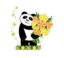 With Love Panda Photographic Print