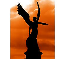 SUNSET ANGEL OF GREECE Photographic Print