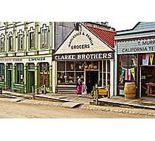 Sisters at Clarke Brothers - Main Street, Sovereign Hill Photographic Print